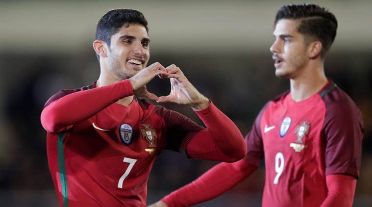 Goncalo Guedes, cristiano ronaldo, Portugal, Saudi Arabia, international friendly, football, sports news, indian express