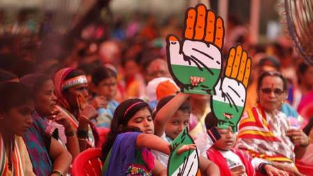 Congress likely to give neck and neck fight to BJP in Gujarat:Survey