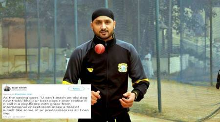 Harbhajan Singh slams Twitter user who called him 'old dog'