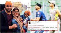 Sourav Ganguly posts a good-humoured apology for calling Harbhajan Singh's daughter 'beta'