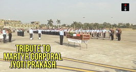 Officers Paying Tribute To Martyr Corporal Jyoti Prakash Nirala At Air Force 12 Wing, Chandigarh