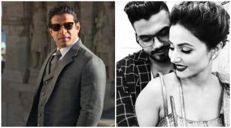 Bigg Boss 11 contestant Hina Khan's boyfriend Rocky Jaiswal gets into a Twitter war with KaranPatel