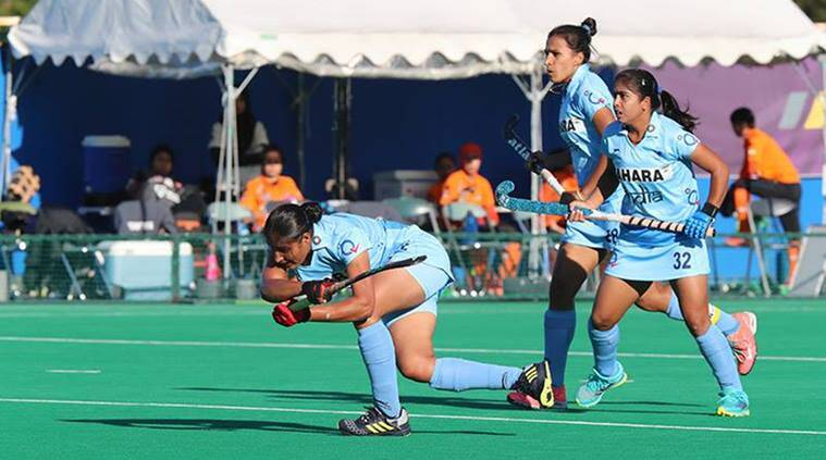 india vs Kazakhstan, indian hockey, india women hockey team, Women's Asia Cup, Gurjit Kaur, hockey news, sports news, indian express