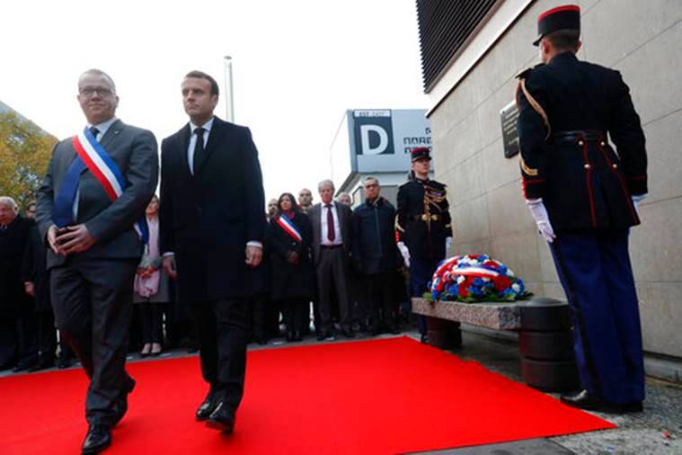 Paris attacks, homage, Emmanuel Macron pays homage, Paris Mayor, Anne Hidalgo, French President, Paris attacks two years