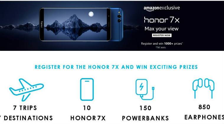 Honor 7X Amazon registrations open