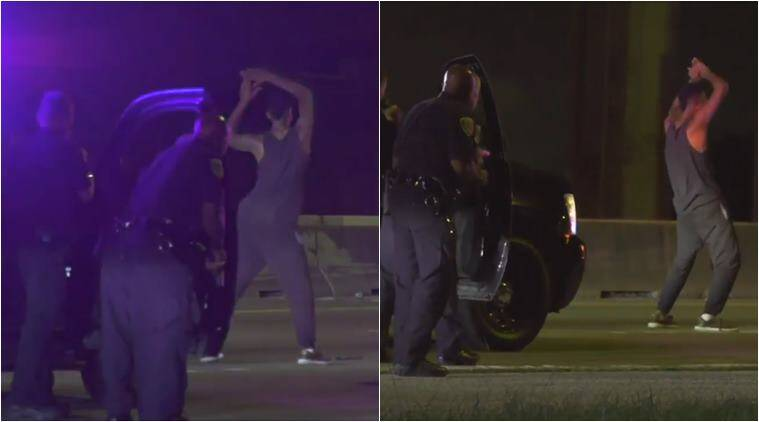 Dancing suspect taken into custody after lengthy chase through Houston