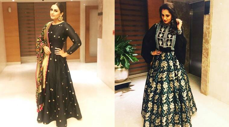 huma qureshi, huma qureshi fashion, huma qureshi photos, sania mirza photos, sania mirza photos fashion, women achievers' awards, women achievers' awards, samia huma fashion, indian express, indian express news