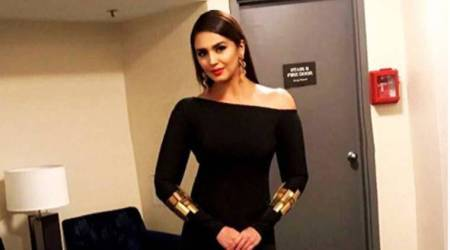 Huma Qureshi looks enticing in a Nikhil Thampi monotone outfit