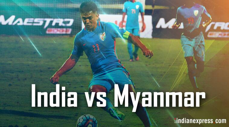 India football team vs Myanmar captain Sunil Chhetri