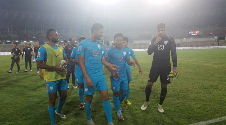 India football team against Myanmar AFC Asian Cup qualifier