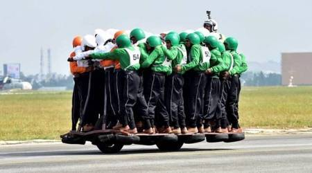 Indian Army creates Guinness record with 58 personnel riding ONE motorbike