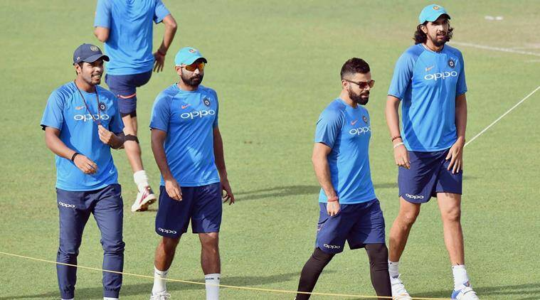 India cricket team during a practice session