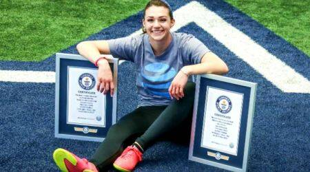 VIDEO: Freestyle footballer Indi Cowie creates TWO new Guinness World Records