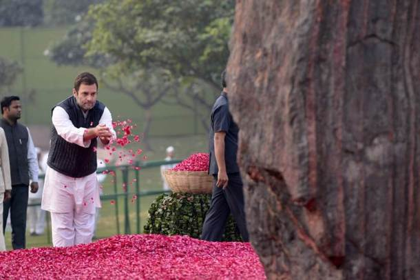Rahul Gandhi, Indira Gandhi, Indira Gandhi birthday, Indira Gandhi birthday photos, Manmohan Singh, Pranab Mukherjee, Congress, Indian express