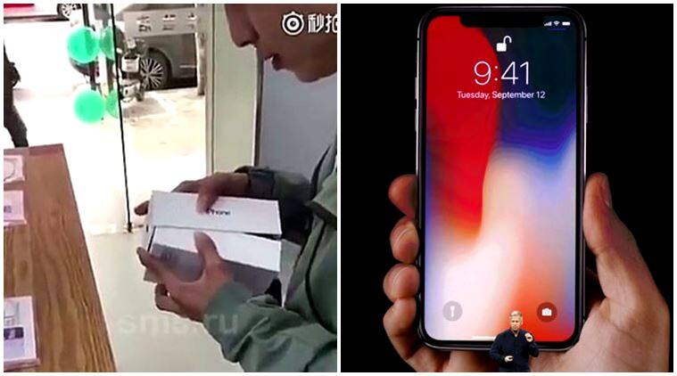 iphone x, iphone x unboxing, iphone x dropped, breaking iphone x, phone x videos, iphone x falls, man drops iphone x, videos on iphone x, indian express, indian express news