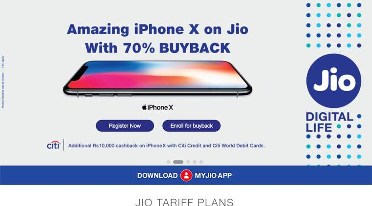 Apple, Apple iPhone X, iPhone X, iPhone X sale, iPhone X cashback, iPhone X CitiBank offer, iPhone X India sale, iPhone X price in India, iPhone X Jio offer, Reliance Jio iPhone X offer