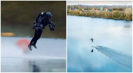 VIDEO: This real-life IRON MAN set a Guinness World Record for fastestbody-suit