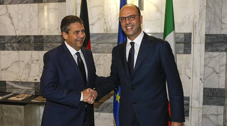 Italy, Germany, foreign ministers of Italy and Germany, Libyan patrols, United Nations, Libyan detention centers, Libya, world news, indian express news