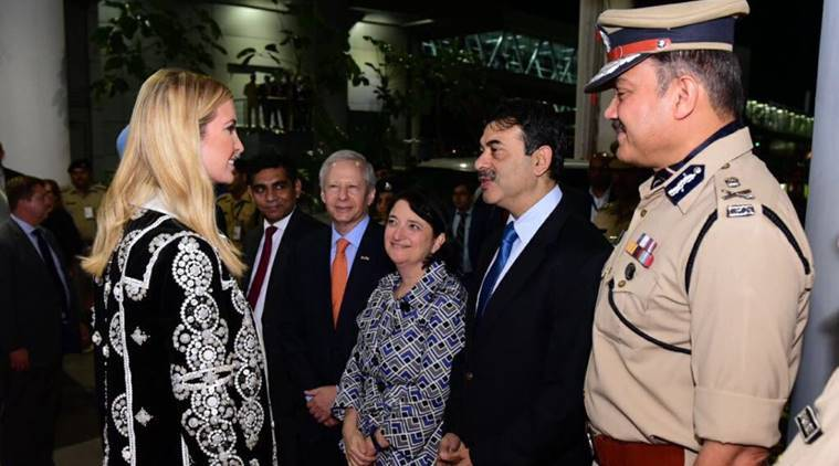 Ivanka Trump arrives in Hyderabad for three-day Global Entrepreneurship Summit