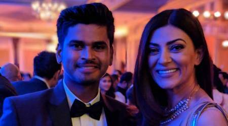 After ODI recall, Shreyas Iyer poses with Sushmita Sen