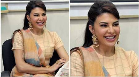 Jacqueline Fernandez takes her traditional look to the next level with this trendy accessory