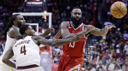 NBA: James Harden's triple-double leads Rockets over Cleveland Cavaliers 117-113