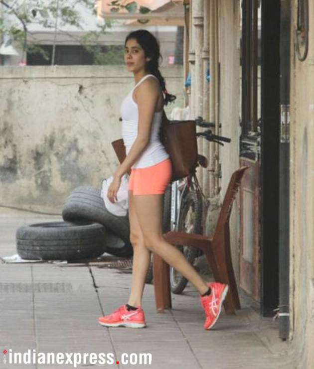 janhvi kapoor at the gym