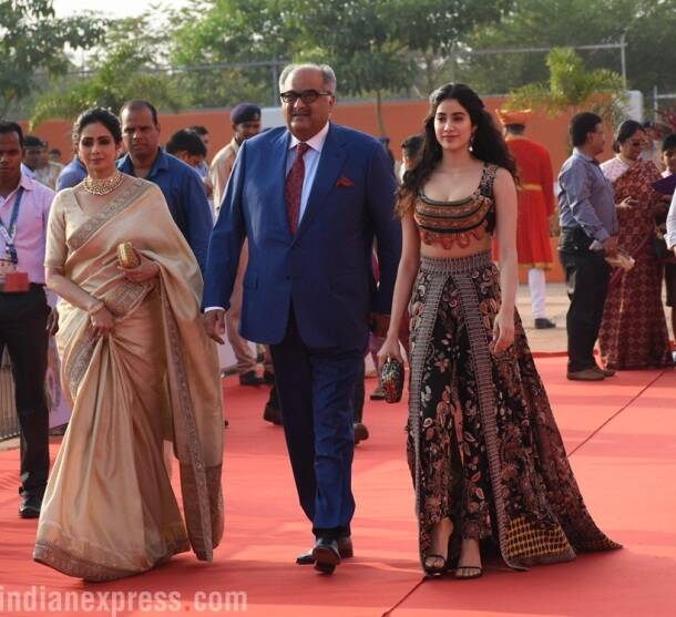 Janhvi Kapoor graced the event with her parents, Sridevi and Boney Kapoor.