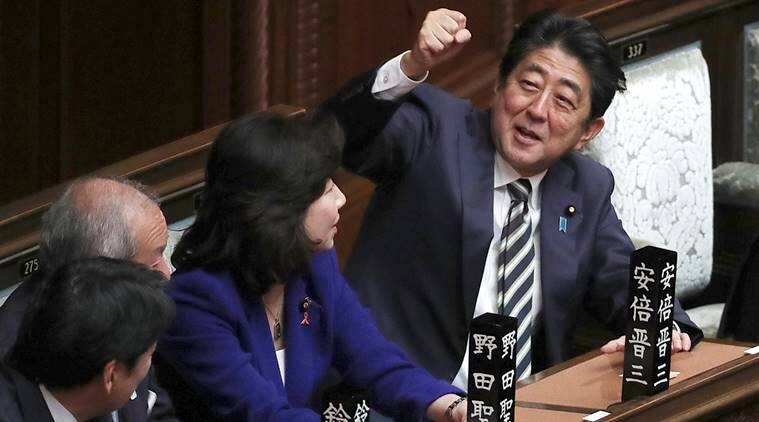 Japan's parliament re-elects Shinzo Abe as prime minister | The ...
