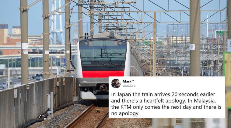 japan, Tsukuba Express, japan rail company apology, japan train punctuality, Tsukuba Express apology, japanese train apologise for early train, weird news, bizarre news, indian express