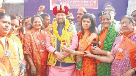 BJP campaign in Gujarat: Prakash Javadekar goes temple-hopping in Rajkot