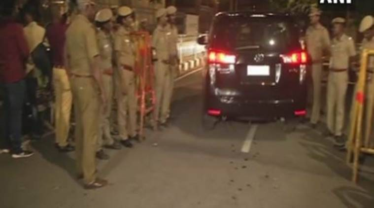 Police security at Jayalalithaa's residence