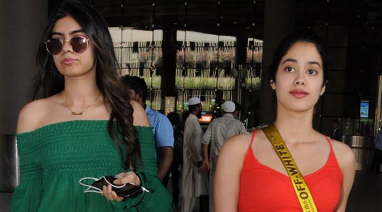 Jhanvi Kapoor and Khushi Kapoor spotted at the airport.