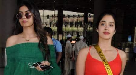 Jhanvi Kapoor and Khushi Kapoor spotted at the airport.