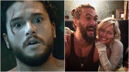 PHOTO: Look out Jon Snow, says Emilia Clarke while getting clicked with Khal Drogo