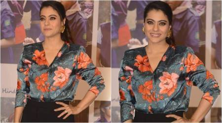 Kajol's formal outfit is a big disappointment; especially the loud floral blouse