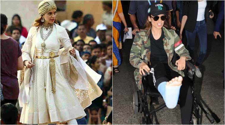Kangana Ranaut injures her leg while shooting for Manikarnika