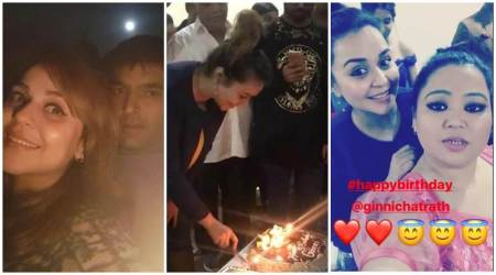 Kapil Sharma celebrates girlfriend Ginni Chatrath's birthday, comedian Bharti Singh also in attendance