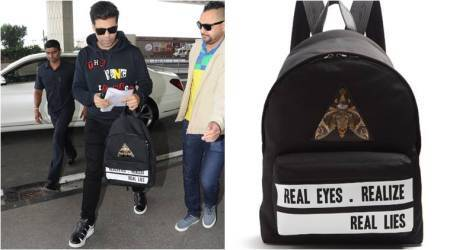 Karan Johar, Karan Johar bags, Karan Johar shoes, Karan Johar fashion, Karan Johar airport looks, Karan Johar movies, bollywood fashion, indian express, indian express news