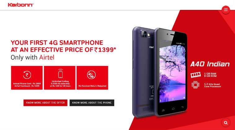Airtel and Karbonn launch affordable smartphones