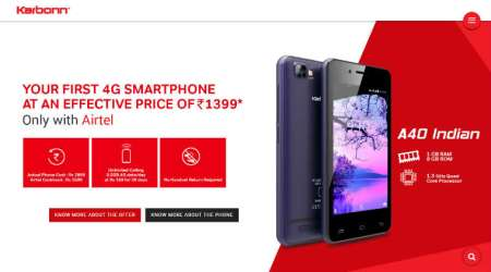 Airtel Karbonn A41 Indian A41 Power price in India features specifications