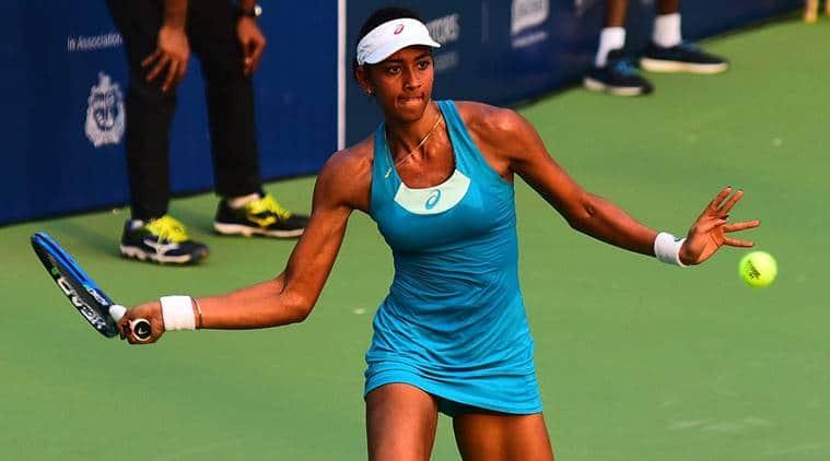 Karman Kaur Thandi lost 2-6 4-6 to Dalila Jakupovic at Mumbai Open 2017