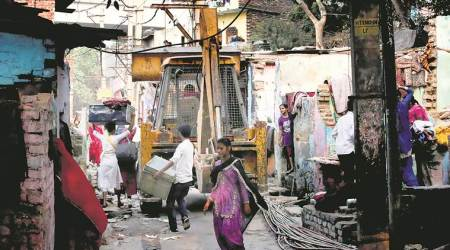 Kathputli colony, delhi slum demolition, kathputli colony demolition, kathputli colony news, Delhi slum eviction, kathputli jhuggi demolition, dda, delhi house demolition, delhi news, india news