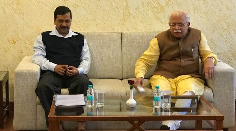 Manohar Lal Khattar, Arvind Kejriwal, Kejriwal, delhi pollution meeting, delhi smog meeting