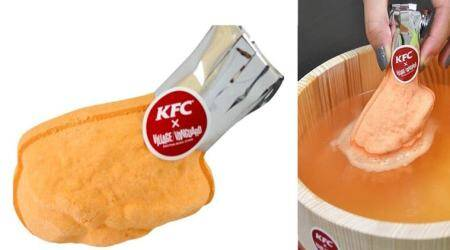 Enjoy a bubble bath that smells like fried chicken, thanks to KFC Japan's bathbomb