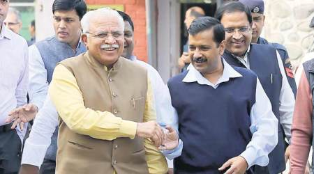 Arvind Kejriwal, Manohar lal khattar, haryana unit, AAP infighting, haryana politicians, india news, indian express news