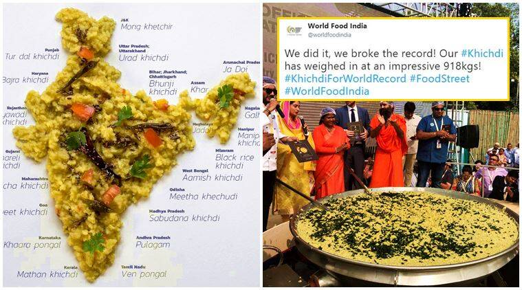 khichdi, world india food, world india food 2017, food street, khichdi tweets, guinness book of world records, khichdi guinness world record, khichdi 800 kg, khichdi world india food, khichdi twitter reactions, indian express, indian express news