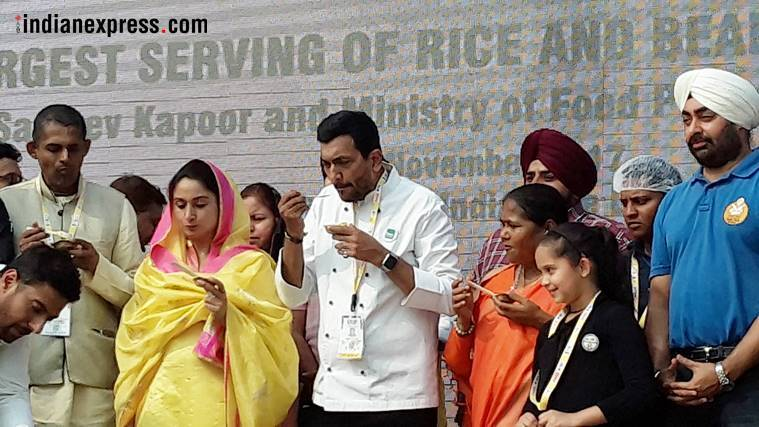 khichdi, world india food, world india food 2017, sanjeev kapoor, baba ramdev, akshya nayyar, union minister harsimrat kaur, brand food of india, national food of india, Guiness record, biggest kichdi, indian express, indian express news