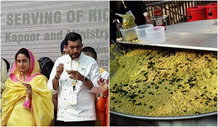 kichdi, world india food, world india food 2017, sanjeev kapoor, baba ramdev, Guinness record, biggest kichdi, indian express, indian express news