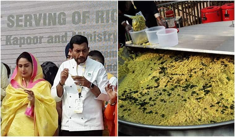 kichdi, world india food, world india food 2017, sanjeev kapoor, baba ramdev, Guinness record, biggest kichdi, indian express, indian express news
